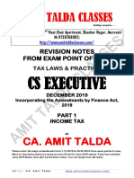 Income Tax Revision Notes December 2019-Executive-Revision
