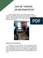 JUEGOS LOGICOS MATEMATICOS