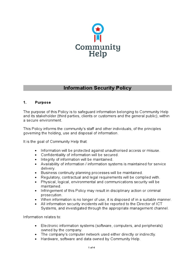 Corporate Security Policy Template from imgv2-2-f.scribdassets.com