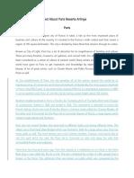 Contoh Descriptive Text About Paris Beserta Artinya