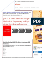 300+ TOP MACHINE DESIGN Multiple Choice Questions and Answers pdf