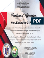 Wash Certificate