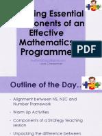 effective mathematics teaching in nz 2016