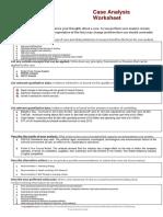 Worksheet Case Analysis