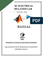 Basic Electrical Simulation Lab 3-1
