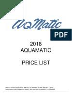 AquaMatic Price List 2018
