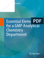 Thomas Catalano (Auth.) - Essential Elements for a GMP Analytical Chemistry Department-Springer-Verlag New York (2013)
