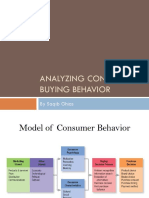 Analyzing Consumer & Business Buying Behavior