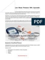 How to Treat Low Blood Pressure With Ayurvedic Medicine
