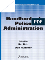 PUBLIC POLICY (Public Administration and Public Policy 133) Handbook of Police Administration