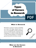 Different Types of Careers in Research