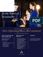 Mass Recruitment l Lifestyle & Spa Department