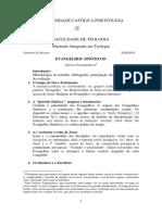 Evangelhos Sinóticos 2018-2019