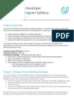 Udacity develop syllabus