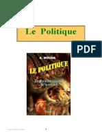 """Livre """"Le politique"""""""