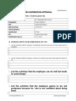 Pre Confirmation Appraisal Form - Mr. K Ravikumar