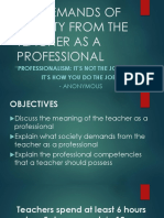 The Demands of Society From the Teacher as a Professional