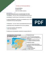 O Clima Na Península Ibérica