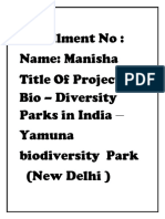 Synopsis of Biodiversity Project