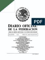Diario oficial federación ejemplo