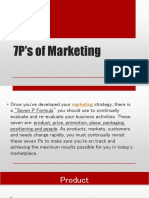 7P's of Marketing