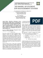 Enhanced Model of Student Information Ma