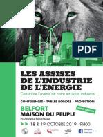 Programme des Assises de l'industrie de l'énergie