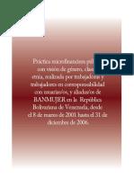 PRÁCTICA MICROFINANCIERA PÚBLICA DEL BANCO DE DESARROLLO DE LA MUJER 2001-2006 EN EL MARCO DE LA ADMINISTRACIÓN PÚBLICA