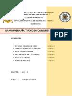 Gammagrafia Tiroides Tc99m Mibi