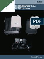 SAILOR 6000 MF-HF 150W-250W-500W System Installation Manual 98-130890-C