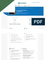 Faysal Bank Platinum Credit Card