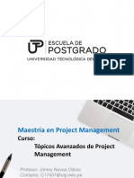 Topicos Avanzados de Project Management