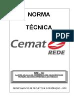 NTE- 022 -Ajustes, Aplicação e Coordenação de Equipamentos de Proteção de Sobrecorrentes Da Distribuição