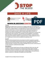 Control Básico de Hemorragias - Breves Antecedentes