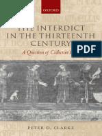 Peter D. Clarke - The Interdict in the Thirteenth Century