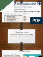 Distinción Entre Comunicación Oral y Escrita