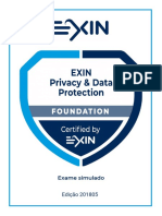 Sample Exam - Privacy & Data Protection Foundation