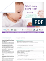 Baby food full report