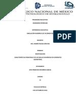 Características Principales de Las Mallas Numéricas en Diferentes Geometrías (PEPE)