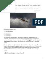 Siembra artificial de nubes Quién y cómo se puede hacer que llueva
