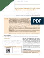 Kinematics on Cyclic Fatigue