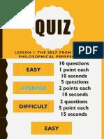 understanding the self quiz bee