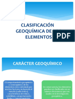 3. Clasificación geoquimica