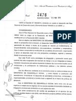 Resolución 2476-2010 Argentina Trabaja MrioDesarrollo