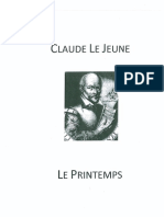 Le Printemps Claude Le Jeune