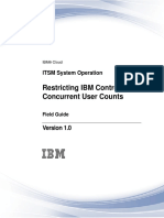 IBM Restricting consurrent user counts
