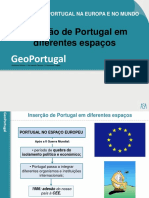 A Inserção de Portugal em diferentes espaços