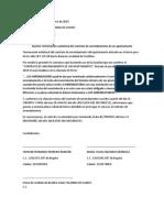 Carta Terminación Contrato Arrendamiento