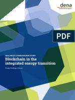 Dena-Studie Blockchain Integrierte Energiewende