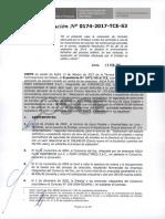 Resolución 0174-2017 (Tribunal de Contrataciones del Estado)